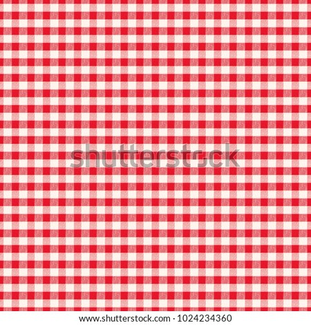Background Pattern, White, Red, Checkered, Tablecloth, Fabric, Cloth,  Texture