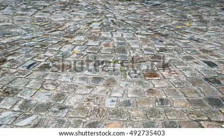 Background Paving Stone street