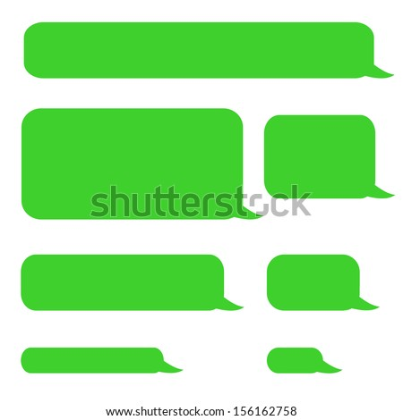 background phone sms chat bubbles in green colors - stock photo