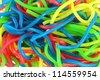 Background photo : Assortment of colorful fruity Gummy Spaghetti - stock photo