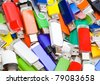 Background picture combined from USB flash memory - stock photo