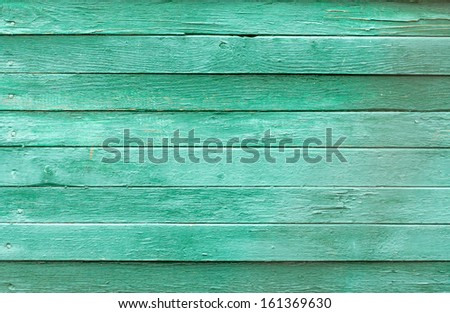 Background picture made of old green wood boards - stock photo