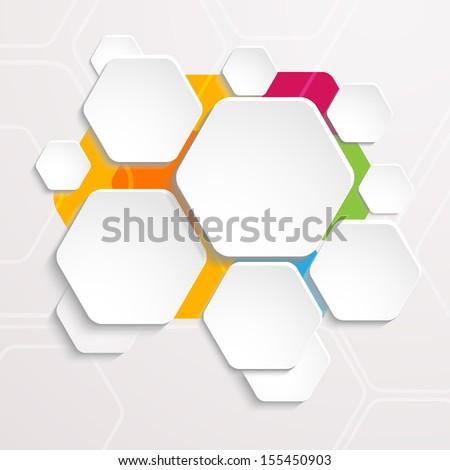 Background Polygons Cut Paper   Design Template. Illustration For Your  Business Presentation. . Raster  Paper Design Template