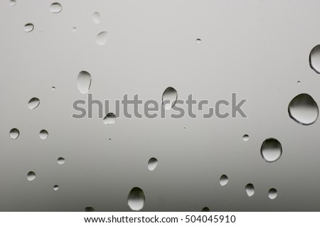 Background raindrops on the window