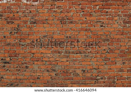 Background red brick wall texture pattern