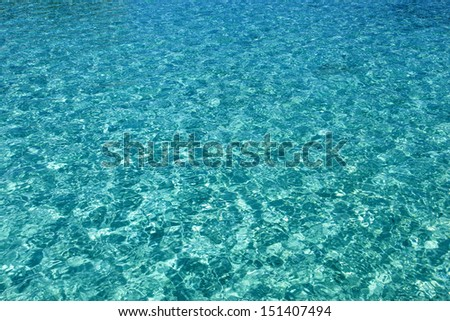 Background ripples on the surface of the turquoise water - stock photo