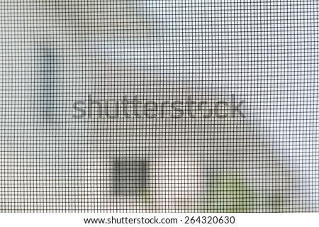 Background screened door - stock photo