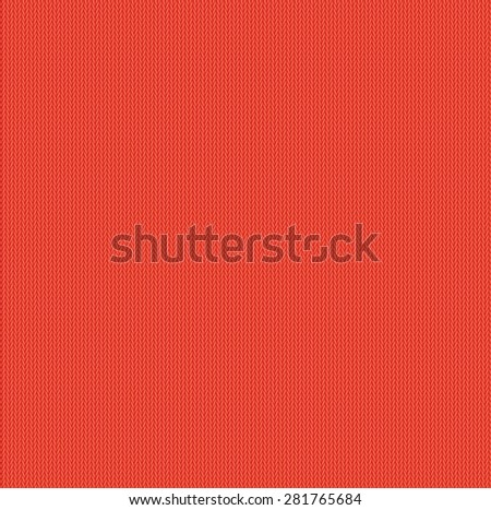 background seamless pattern texture of red wool knitwear - stock photo