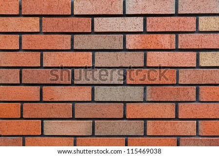 background section of brick wall dark red close-up