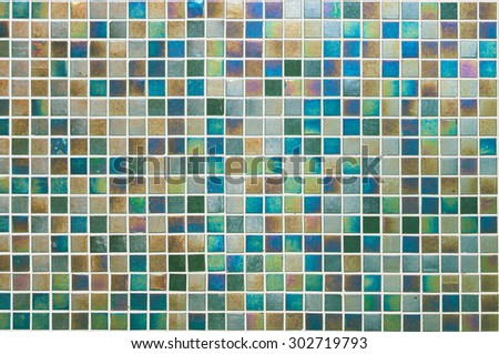 Background series : Iridescent tiles wall