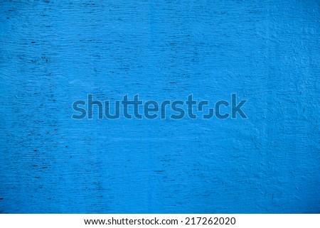 Background. Shabby blue plywood. - stock photo