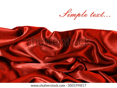 background - silk fabric with a place for text - Red