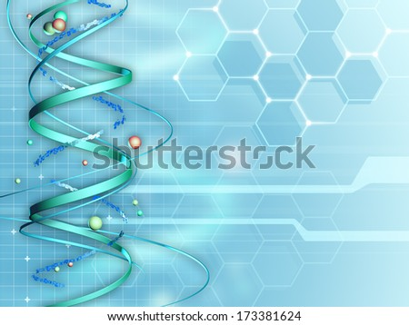 Background suitable for medical and research subjects. Digital illustration. - stock photo