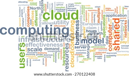 Background text pattern concept wordcloud illustration of cloud computing - stock photo