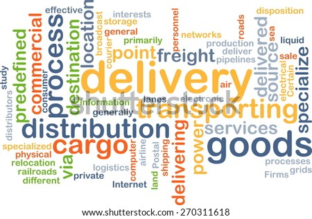 Background text pattern concept wordcloud illustration of delivery