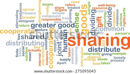 Background text pattern concept wordcloud illustration of sharing