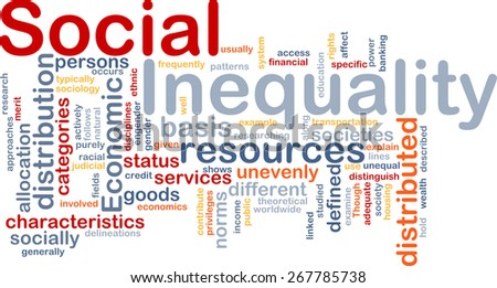 Background text pattern concept wordcloud illustration of social inequality - stock photo