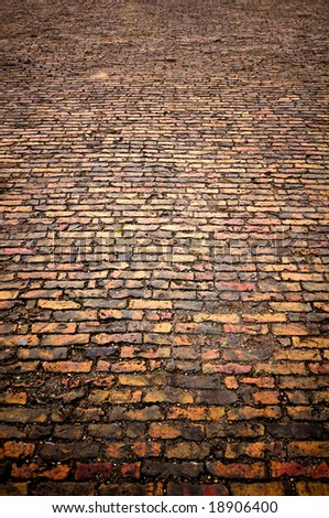background texture brick paving - stock photo
