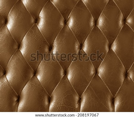 Background texture brown leather sofa.