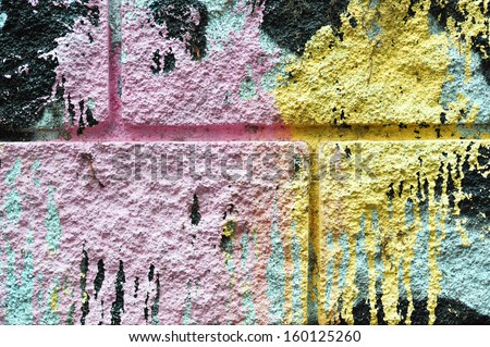 Background texture colored graffiti detail - stock photo