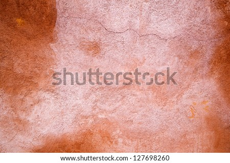 background texture from Venetian terracotta colored wall paint