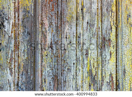 Background texture layer of old cracked varnish on a wooden board, for design