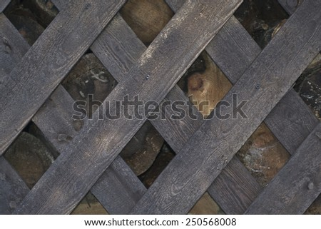 Background, texture. Logs for wood fence - stock photo