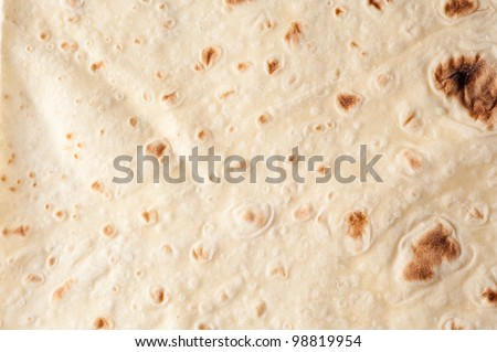 background texture of baked lavash bread - stock photo