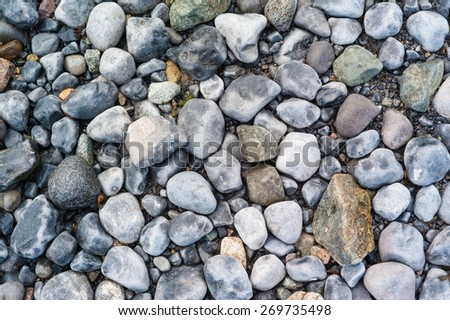 Background texture of beach rocks on  Irish beach #4