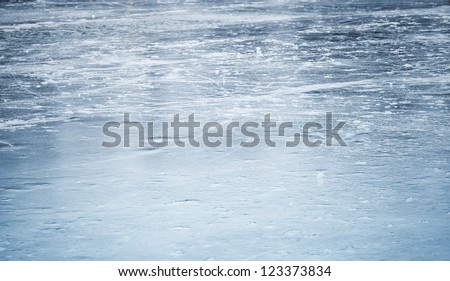 Background texture of blue ice rink