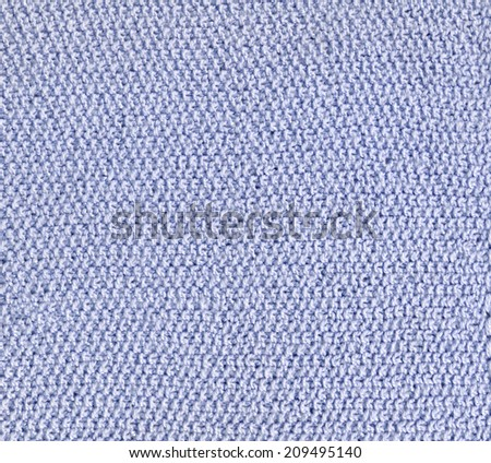 background texture of blue knitted fabric