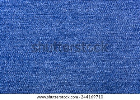 background texture of blue, rough denim close-up - stock photo