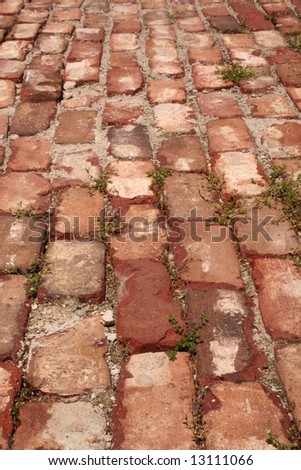 Background texture of brick pavers