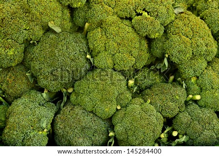 Background Texture Of Broccoli In A Market - stock photo