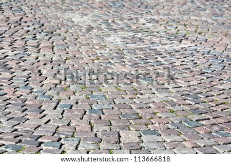 background texture of cobblestone pavement
