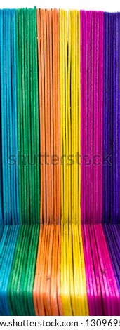 Background texture of colorful wooden fence - stock photo