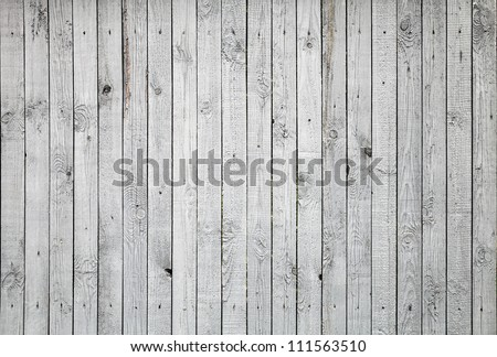 Background texture of old white painted wooden lining boards wall - stock photo