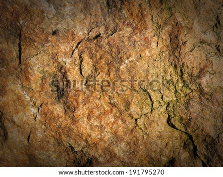 Background, texture of sandstone with vignette - stock photo
