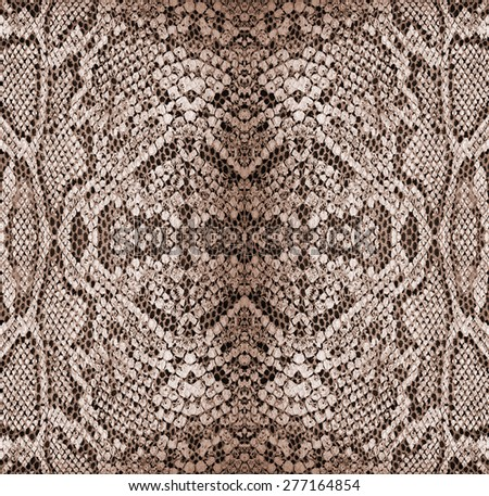 Background - texture of snake skin - Reptiles - Red - stock photo