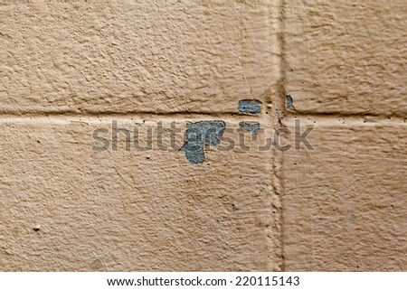 Background texture of the old cracked wall with peeling paint and plaster