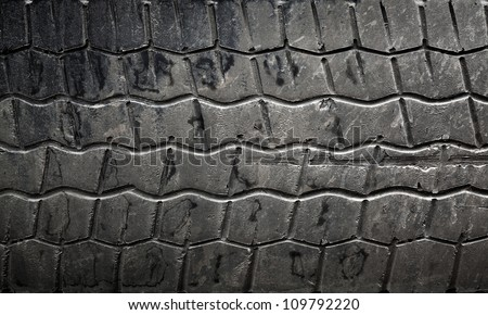 Background texture of used car tire - stock photo