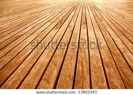 background texture of wooden boards floor - stock photo