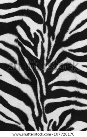 Background texture of zebra skin pattern - stock photo