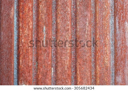 Background texture of Zinc Sheet Fencing with rust - stock photo
