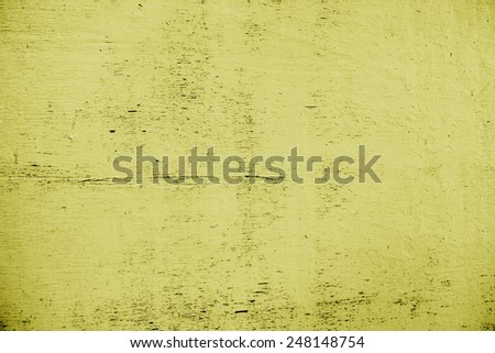 Background, texture. Old cracked plate, yellow - stock photo