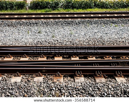 background texture travel rail train in europa  - stock photo