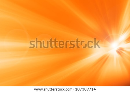 Background texture with warm sun and lens flare - stock photo