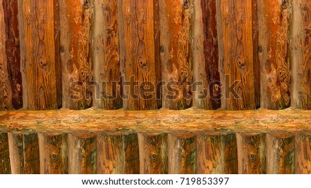 background vertical log ribbed surface smooth rustic base color natural pine