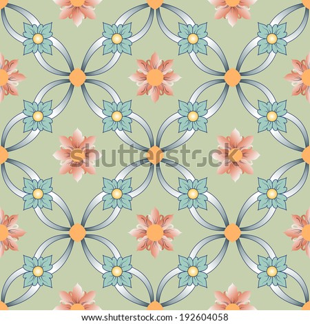 Background vintage flower. Seamless floral pattern. Abstract wallpaper. Texture royal. Fabric illustration. - stock photo