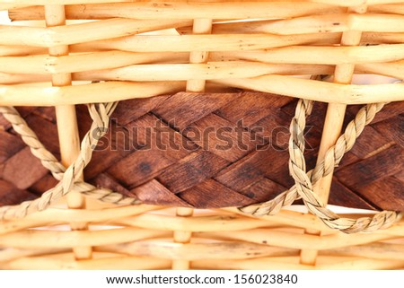 Background vintage weave wicker basket. Whole background